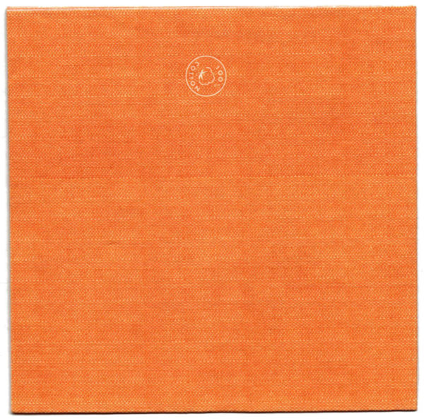 100% Bio Baumwoll Servietten Basic Orange 40x40 kompostierbar