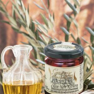 Olive Nere Vera Riviera Denocciolate In Olio Extravergine 180gr
