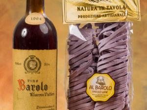 Tagliatelle al Barolo 250gr/Tagliatelle mit Barolowein Vegan